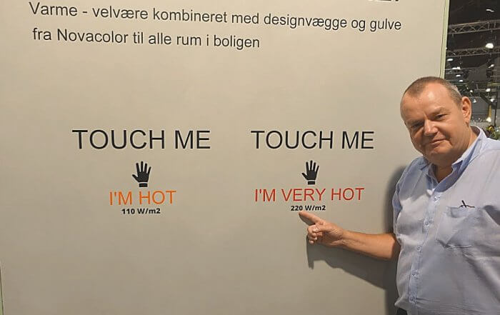 Wall2floor, lofec varmesystem i stedet for radiatorer. Novacolor.dk