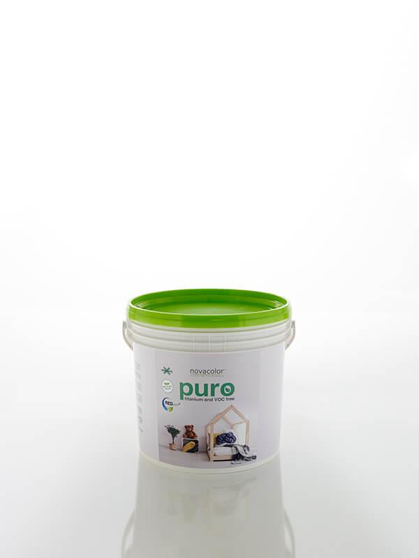 Puro er en bæredygtig maling uden titanium og lav på voc. Mat overflade